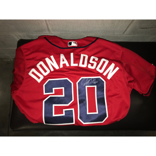 Photo of Josh Donaldson Game-Used Autographed Jersey