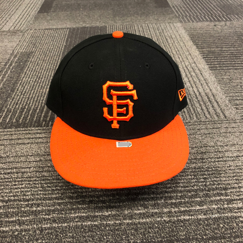 Photo of 2018 Game Used Orange Bill Cap worn by #1 Gregor Blanco - Size 7 1/4