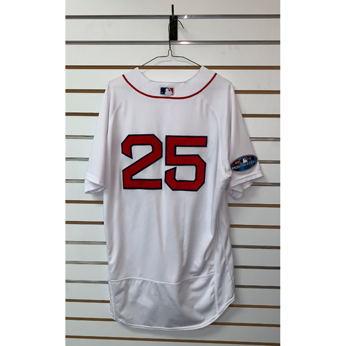 premium selection 45b55 6f3a0 Red Sox Auctions | Steve Pearce Team Issue 2018 Postseason ...