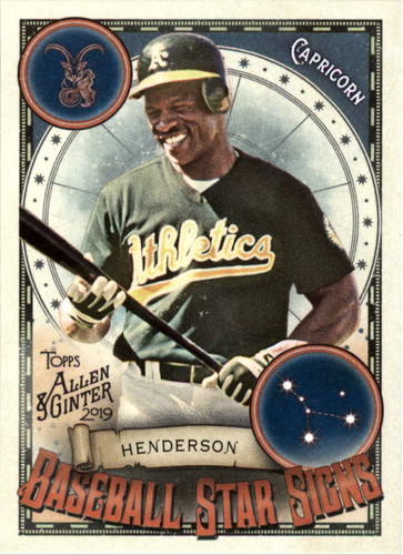 Photo of 2019 Topps Allen and Ginter Baseball Star Signs #BSS23 Rickey Henderson