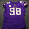 STS - Vikings Linval Joseph Game Used Jersey Size 46 (11/4/18) w/ Captain's Patch
