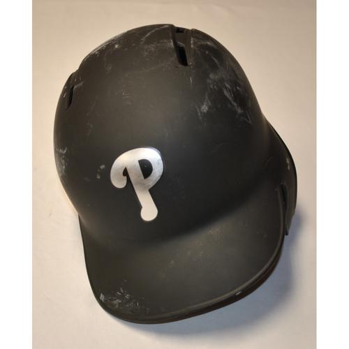 "Photo of Jean ""EL MAMBO"" Segura Philadelphia Phillies Game-Used 2019 Players' Weekend Helmet"