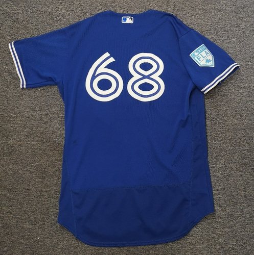 Photo of Authenticated Team Issued 2019 Spring Training Jersey - #68 Forrest Wall. Size 46