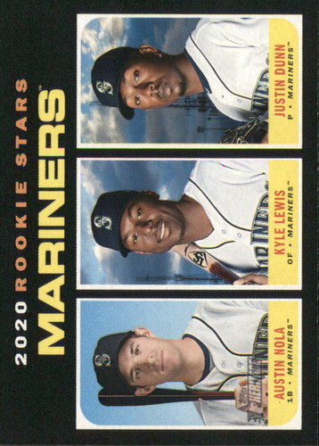 Photo of 2020 Topps Heritage #391 Justin Dunn RC/Austin Nola RC/Kyle Lewis RC