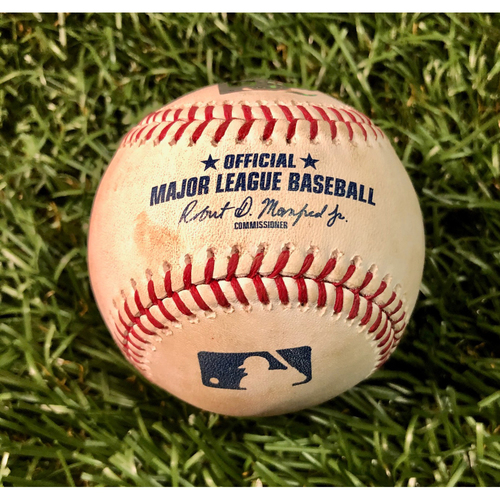 Photo of Game Used Baseball: Shohei Ohtani Cycle Game - Noe Ramirez strikes out Avisail Garcia - June 13, 2019 v LAA