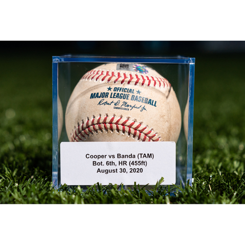 Photo of Promote the Vote: Game Used Baseball: Garrett Cooper - Home Run