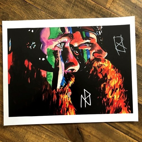 Photo of Viking Raiders SIGNED 11 x 14 Rob Schamberger Print