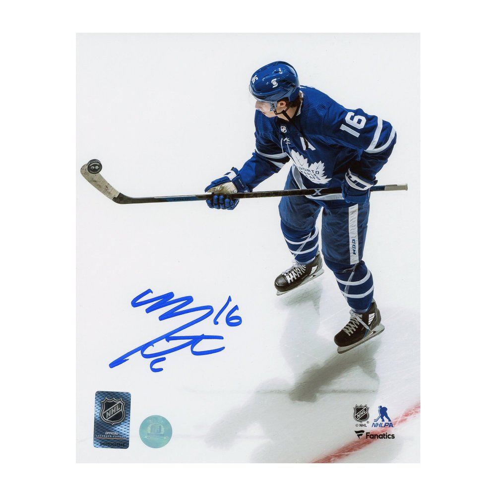 Mitch Marner Toronto Maple Leafs Signed Puck Magician 8x10 Photo