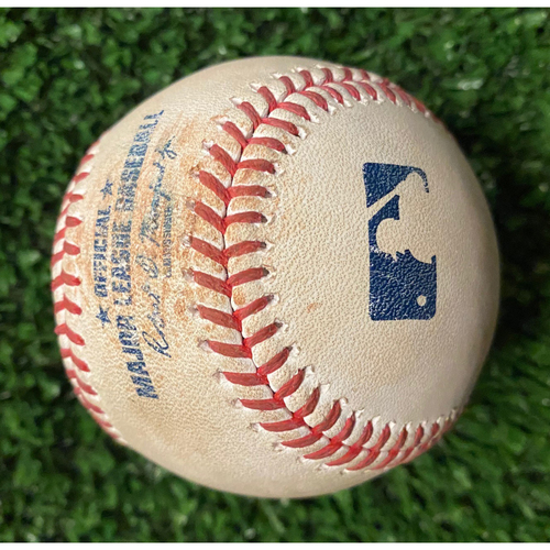 Photo of Mookie Betts Hit Single Ball off Ian Anderson - 10/17/21 NLCS Game 2