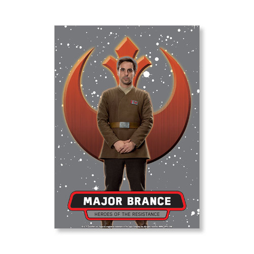 Major Brance 2016 Star Wars The Force Awakens Chrome Metal Poster - # to 99