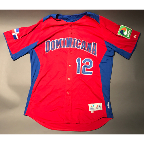 2013 World Baseball Classic Jersey - Dominican Republic Road Jersey, Coach Samuel #12