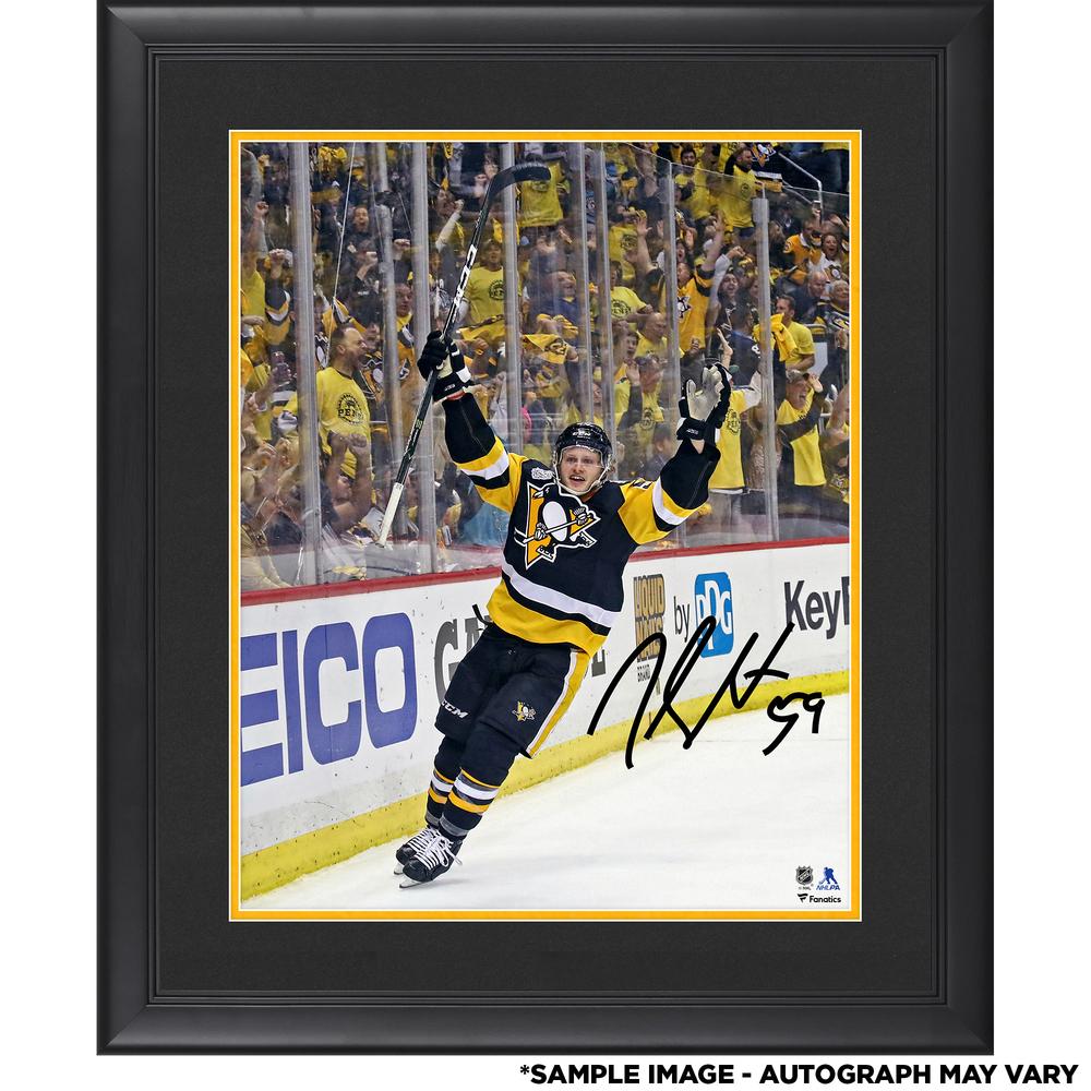 Jake Guentzel Pittsburgh Penguins Framed Autographed 16