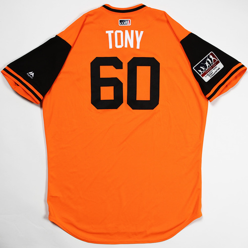 "Photo of Mychal ""Tony"" Givens Baltimore Orioles Game-Used 2018 Players' Weekend Jersey"