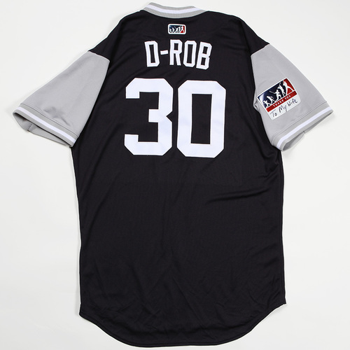"Photo of David ""D-Rob"" Robertson New York Yankees Game-Used Jersey 2018 Players' Weekend Jersey"