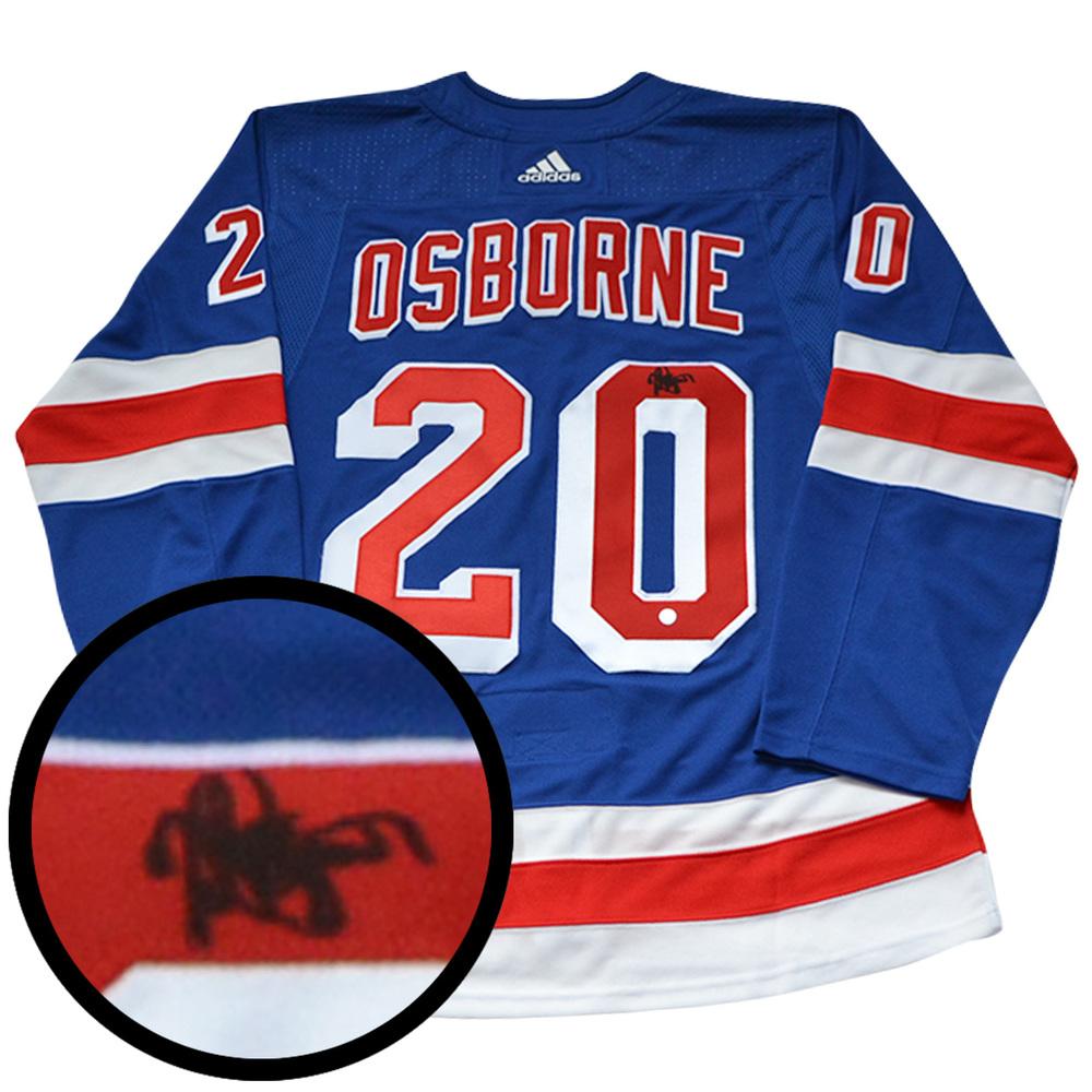 Mark Osborne Signed Jersey Rangers Pro Blue 2017-2019 Adidas