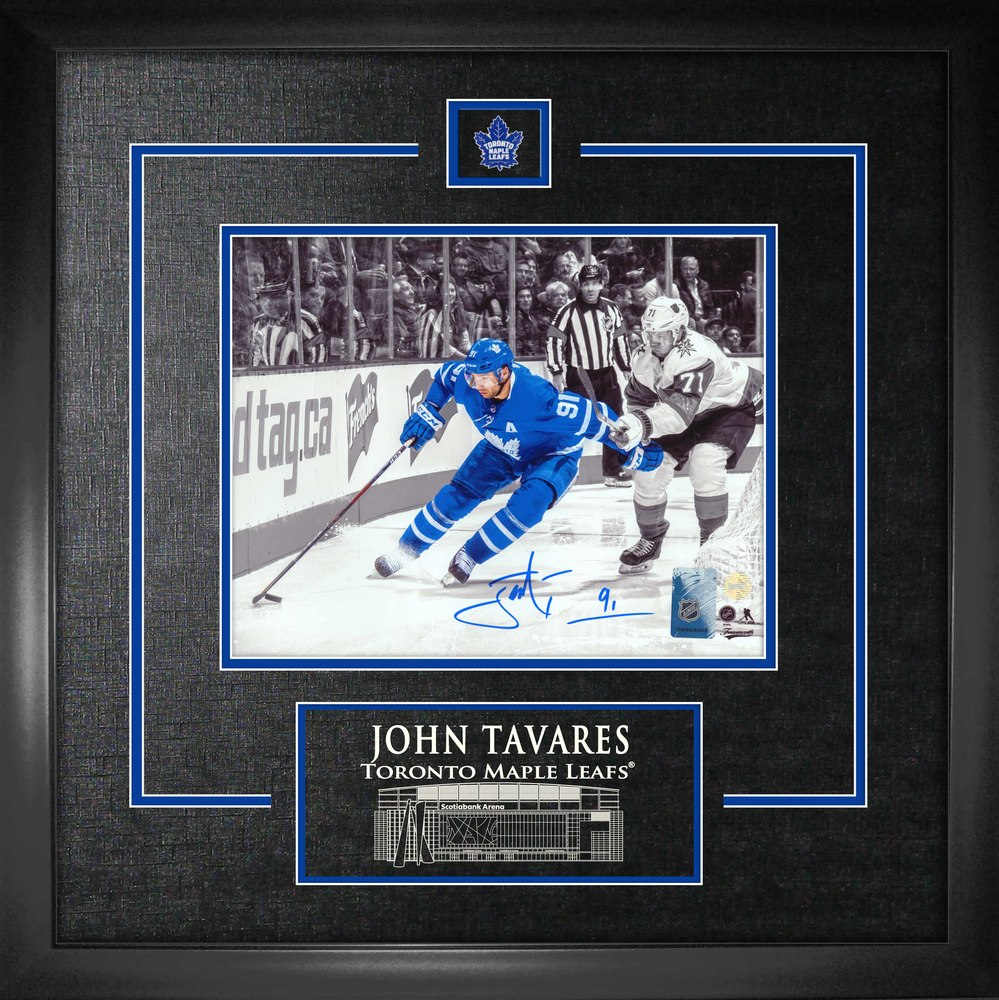 John Tavares Signed 8x10 Etched Mat Maple Leafs Spotlight vs Vegas