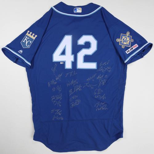2019 Jackie Robinson Day Jersey - Kansas City Royals Team Autographed Jersey