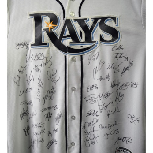 Photo of Rays Baseball Foundation Auction: 2015 Rays Team Signed Autographed Replica Jersey  - Size L