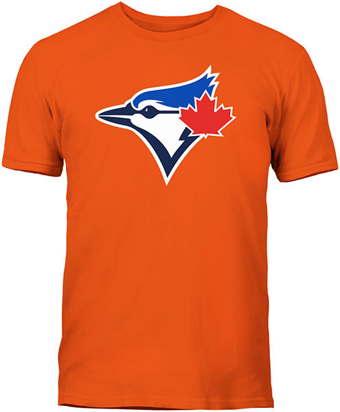 Toronto Blue Jays Secondary Logo Orange T-Shirt by Bulletin