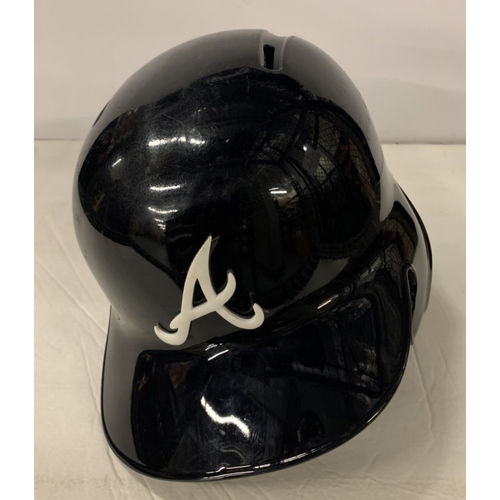 Photo of Mike Soroka Game Used Postseason Helmet - Worn 10/6/19