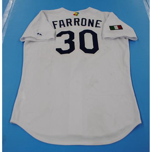 Photo of 2006 Inaugural World Baseball Classic: Giampiero Farrone Game-worn Team Italy Home Jersey