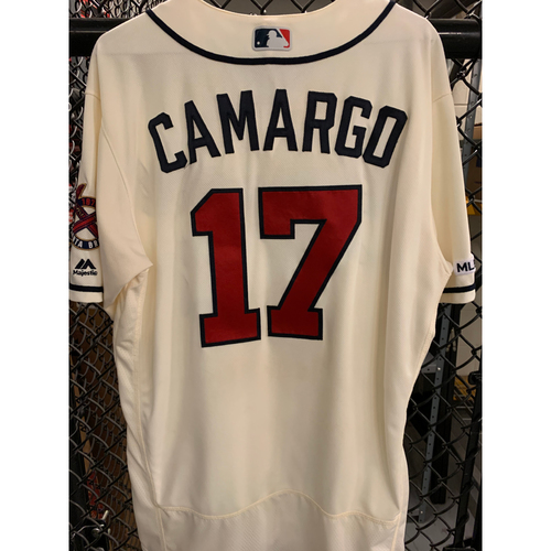 Photo of Johan Camargo Game Used Home Ivory Jersey - Worn 5/19/19