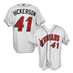 Photo of #41 Bryan Hickerson Autographed Game Worn Home White Jersey