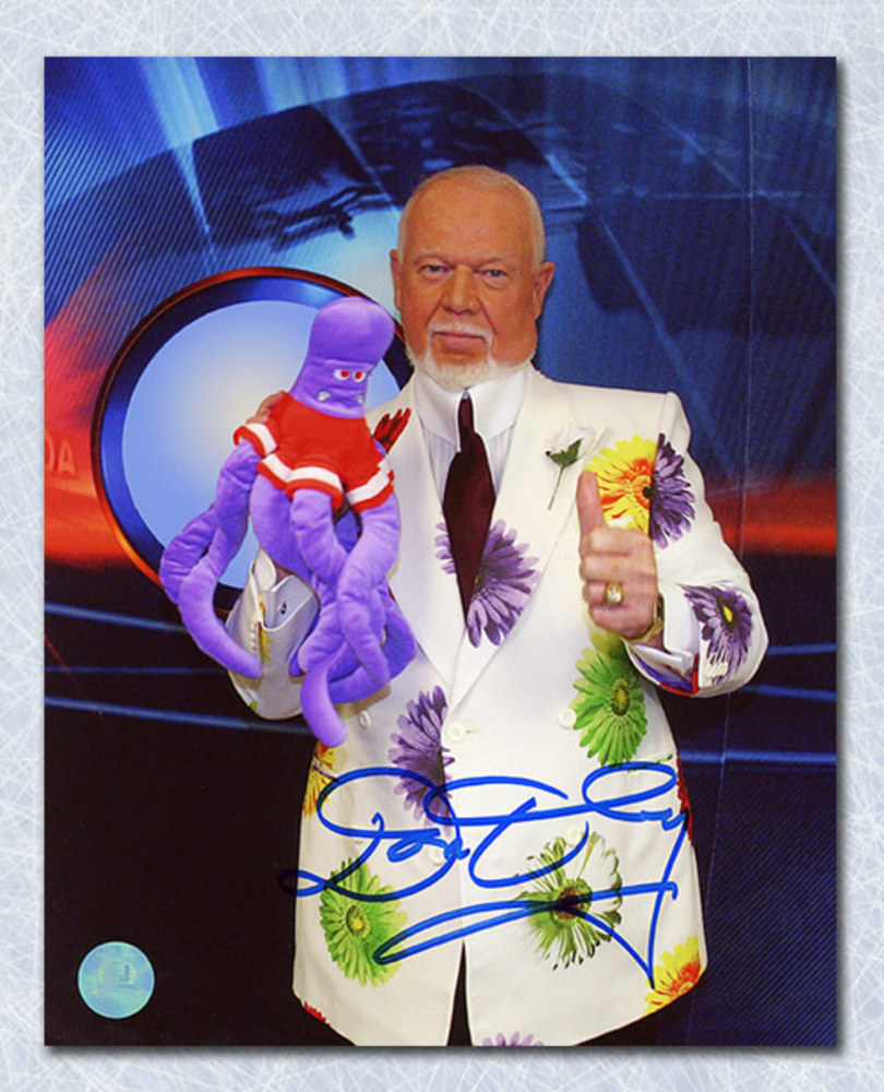 Don Cherry Coach's Corner Autographed Detroit Octopus 8x10 Photo