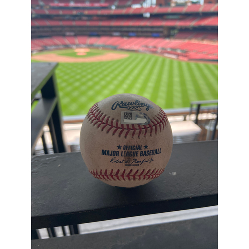 Photo of Cardinals Authentics: Game Used Baseball Pitched by Adam Wainwright to Guillermo Heredia and John Ryan Murphy *Heredia Strikeout, Murphy Foul*