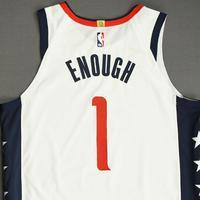 Admiral Schofield - Washington Wizards - Game-Worn City Edition Jersey - 2019-20 NBA Season Restart with Social Justice Message
