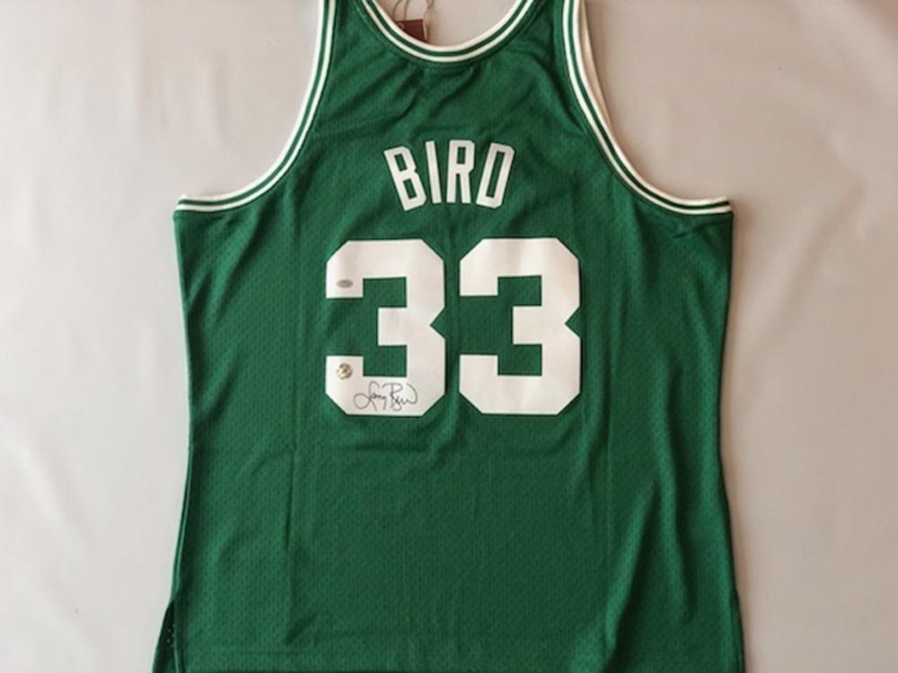 Larry Bird Autographed Celtics Jersey