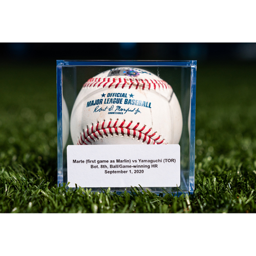 Photo of Promote the Vote: Game Used Baseball: Starling Marte - Home Run