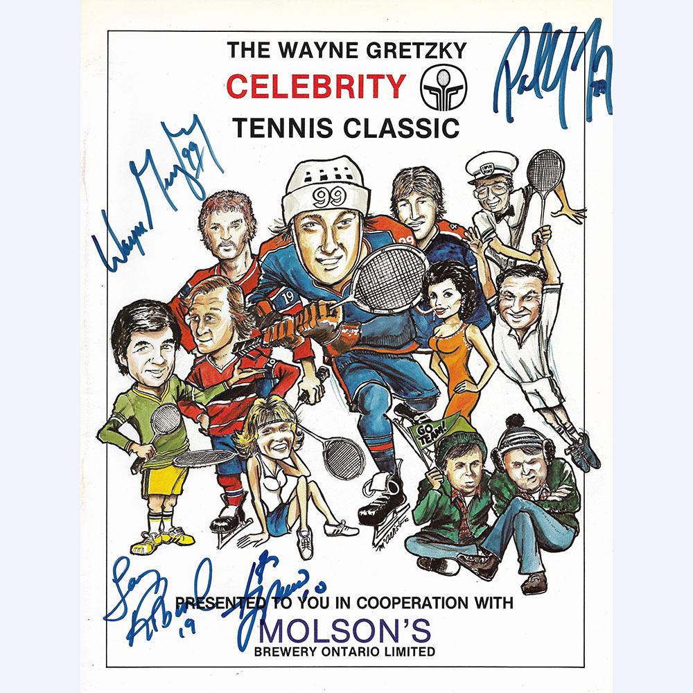 Wayne Gretzky Celebrity Tennis Classic Multi-Signed Program - Gretzky, Coffey, Robinson & Lafleur
