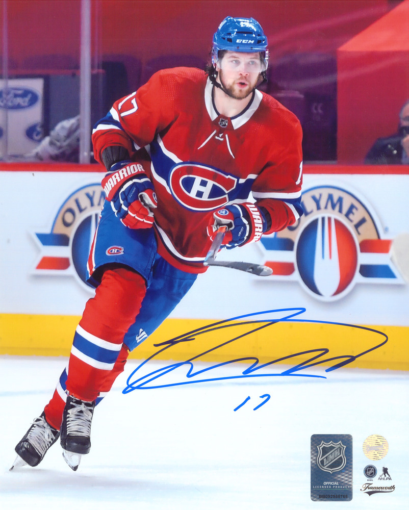 Josh Anderson Signed 8x10 Unframed Canadiens Red Action