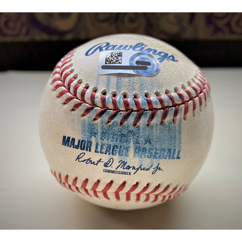 Photo of Game-Used Baseball:  Brady Singer Kansas City Royals Rookie Strikeout (MLB AUTHENTICATED)