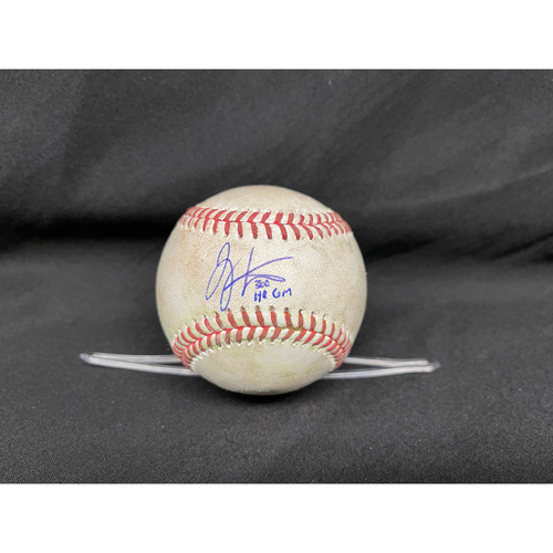Photo of Joey Votto *Game-Used, Autographed & Inscribed* Baseball from 300th Career HR Game - Wade Miley to Willson Contreras (Double); to Kris Bryant (Ball in Dirt) -- 04/30/2021 - CHC vs. CIN - Top 3