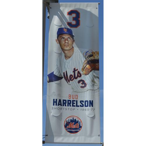 Photo of Bud Harrelson #3 - Citi Field Banner - 2019 Season