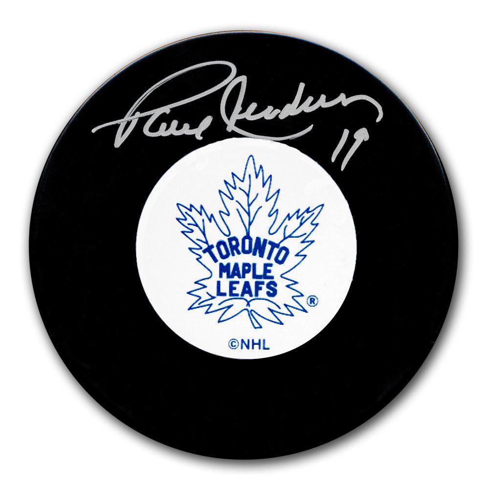 Paul Henderson Toronto Maple Leafs Autographed Puck