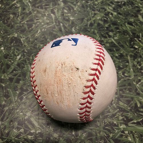 Photo of Game-Used Baseball KC@MIL 07/21/21 - Brad Keller - Willy Adames: RBI Groundout