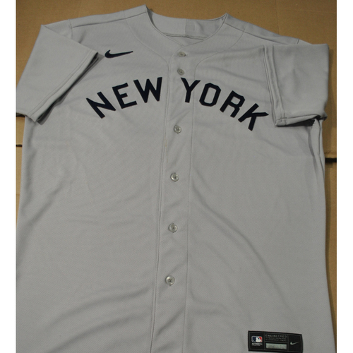 Photo of 2021 New York Yankees vs. Chicago White Sox in Dyersville, Iowa - Team-Issued 1919 Throwback Jersey - Gerrit Cole - Size 46