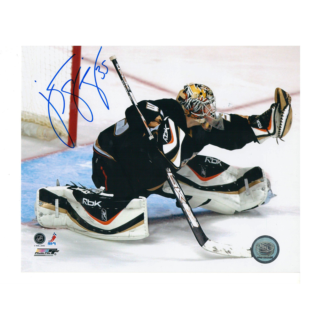 J. S. GIGUERE Signed Anaheim Ducks 8 X 10 Photo - 70207