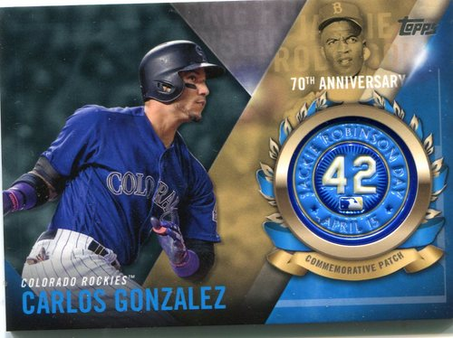 Photo of 2017 Topps Jackie Robinson Logo Patches #JRPCCG Carlos Gonzalez
