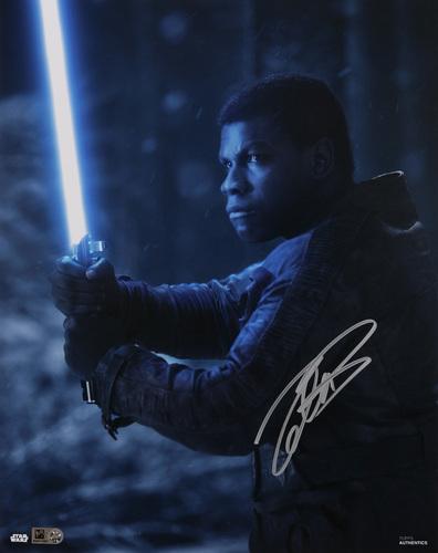 John Boyega as Finn Autographed Silver Ink 11x14 Photo