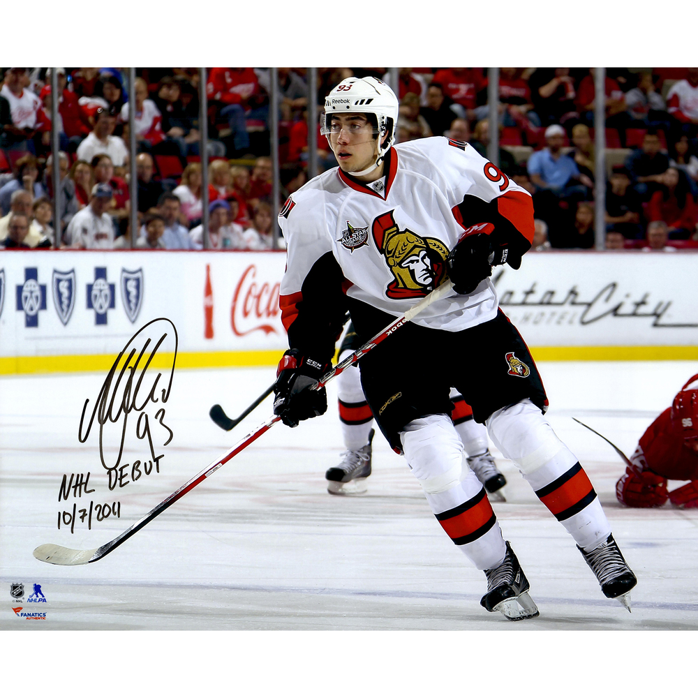 Mika Zibanejad Ottawa Senators Autographed 16