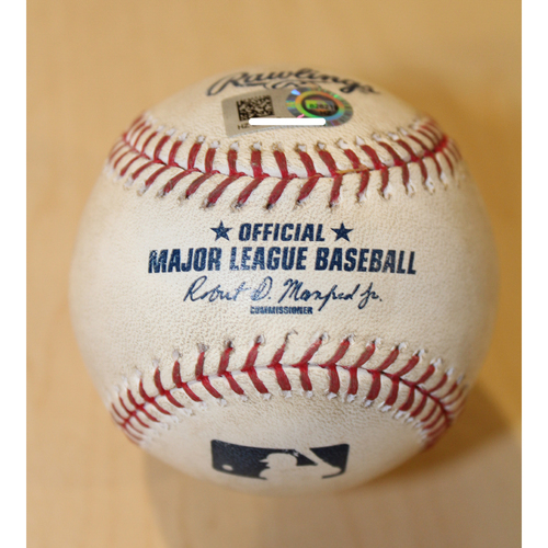 Game-Used Baseball: Kendrys Morales 761st Career Hit (CLE at KC - 6/4/15)