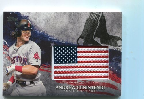 Photo of 2018 Topps Independence Day U.S. Flag Relics #IDMLAE Andrew Benintendi