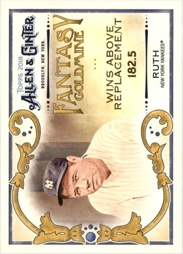 Photo of 2018 Topps Allen and Ginter Fantasy Goldmine #FG7 Babe Ruth