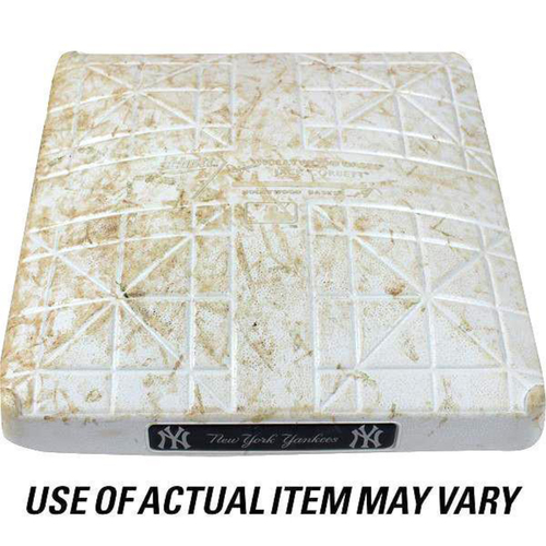 Photo of Rays at Yankees 4-3-2018 Game Used Second Base (1st Inning)