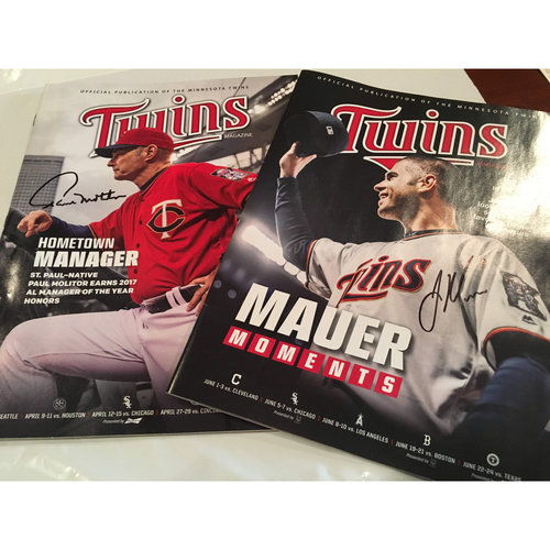 Photo of Molitor and Mauer Twins Magazine Duo