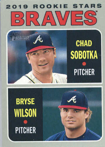 Photo of 2019 Topps Heritage #172 Chad Sobotka RC/Bryse Wilson RC